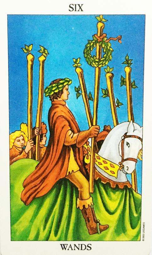 Tarot - Sechs der Stäbe